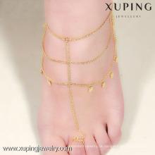Xuping Jewelry Gold Fußkettchen Designs, Fußkettchen für Frauen
