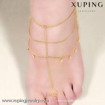 Modèles de cheville en or Xuping Jewelry, bracelets de cheville pour femmes