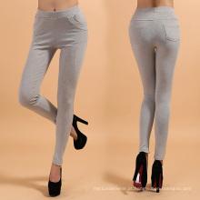 Sex Lady Cotton Leggings com Design de Linha