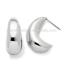 wholesale fashion hoop earring moon shape earrings for womens jewelry
