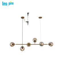 New Design Living Room dining room Modern Iron Glass Pendant Lamp