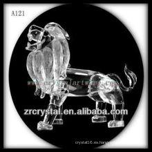 Bonita estatuilla de animales de cristal A121