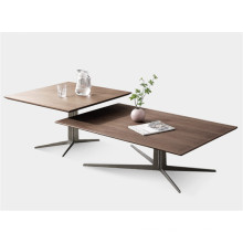 Walnut coffee table set