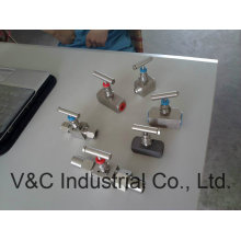 High Pressure Needle Valve with Thread End