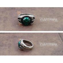 'кольцо души' зеленый ювелирных изделий Вставка Ретро Серебряный Цвет