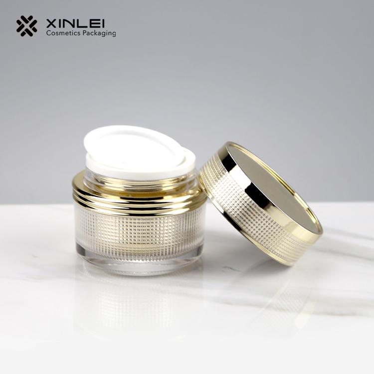 Plaid Cosmetic Acrylic Jar