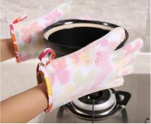 रसोई उपकरण दस्ताने महाराज सिलिकॉन कपास एक प्रकार का दस्ताना के लिए