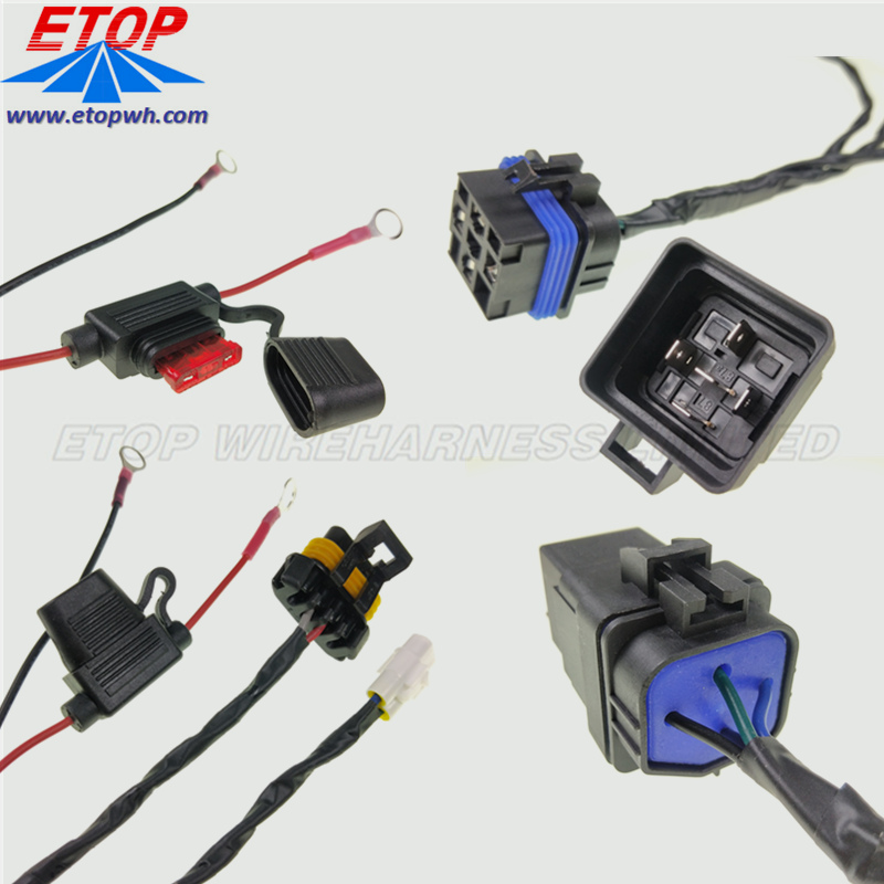 Weatherproof Relay with Harness 30amp