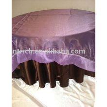 Nappe, linge de table, couverture de table satin organza superposition