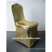 Shining!bronzing gold stamp spandex chair cover for banquet and wedding
