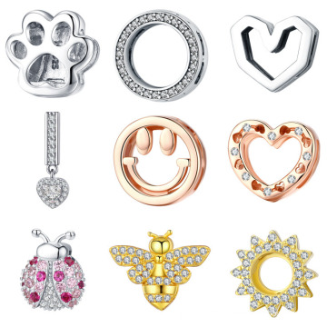 Sterling Silver Accessories Fashion Beads for Bracelets