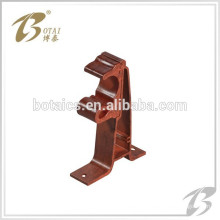decor single or double aluminum curtain rod bracket