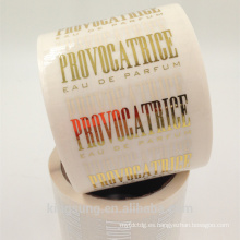 rollo adhesivo adhesivo transparente con sello de oro caliente