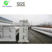 Cilindros de almacenamiento de 6 estaciones Cascade CNG Tubos grandes