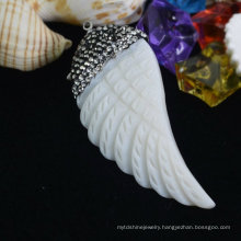 Leave Leaf Mother Pearl Pendant Necklace Jewelry