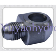 SAE Flange Adapter with Metrice Thread 24 Deg Cone