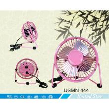 """4 """"2500 Rpm mini ventilador USB com lâmina de alumínio (USMN-444)"""