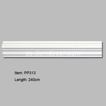 PU Dekorativa Plain Panel Mouldings