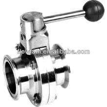 Válvula de borboleta de aço inoxidável 304/316 sanitárias