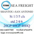 Shantou Port Sea Freight Shipping ke San Antonio