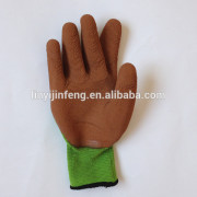 Best selling JF 13G polyester liner foam latex coated safety protective glove