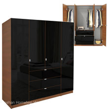 Modern Wooden 4 Doors Wardrobe Design (HF-EY08313)