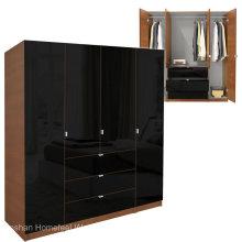 Современный деревянный дизайн дверей из 4 дверей (HF-EY08313)