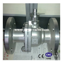 Válvula de esfera flutuante DIN em aço inoxidável