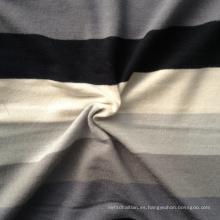 Rayón Spandex tejiendo tejido de rayas (QF13-0683)