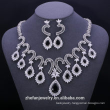 2016 woman bridal wedding jewelry sets charm AAA cubic zirconia designer
