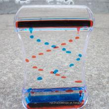 Grande acrílico colorido óleo líquido brinquedo ampulheta Mq-Ach02