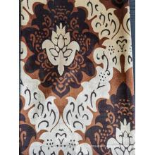 Printed velvet fabric for curtain
