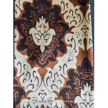 Printed velvet fabric for curtain
