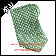 100% Handmade Silk Printed Necktie Bird