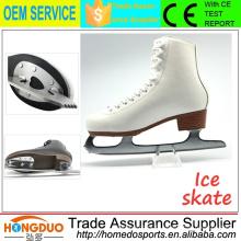 Softy cuir en acier inoxydable blad skate shoes