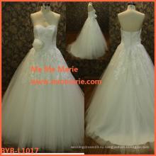 оптовая свадебное платье образец фото кристалл цветок бисером кружева 2016 новый дизайн платье свадебное платье мануфактуры БЫБ-L1017