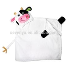 Casey la vaca con capucha toalla, 100% algodón, Super suave, lavable a máquina, el mejor regalo de ducha para bebés
