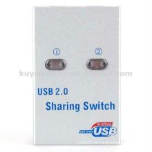 2 Port USB 2.0 Auto Sharing Druckerschalter Scanner Switch