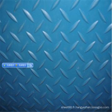 Feuille en caoutchouc antidérapante de Blue Diamond Checker