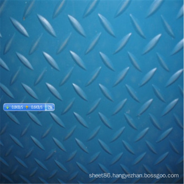 Blue Diamond Checker Anti Slip Rubber Sheet