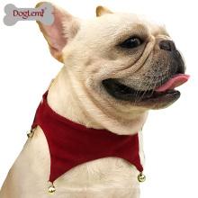 Cão Pet Costume Scarf Acessórios Atacado China Natal Jingle Bell Scarf