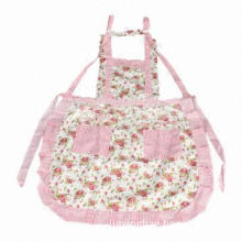Nice Two Pocket Woman's Cooking Apron, New Design, Soft and Comfortable, OEM Orders Accepted
