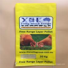 20kg pp sac d'emballage tissé avec gousset