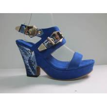 2016 novas senhoras design pedaço sandálias (hyy03-031)