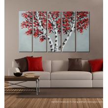 Art de mur de toile de fleur moderne pour la maison
