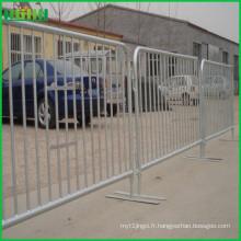 Barrière de barricade de contrôle de foule extensible en poudre expansible