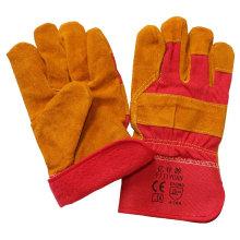 Brown Leder Baumwolle Voll Futter Winter Sicherheit Schutzhandschuhe