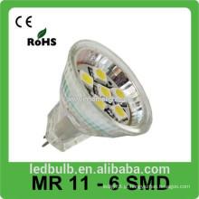 2015 novos produtos led spot light MR11 6SMD levou luzes