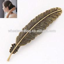 Fornecedor barato folha de liga quente em forma de hairpin chinens hairpin cabeçalho cabeça para o cabelo
