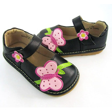Black Big Butterfly Squeaky Shoes Girl